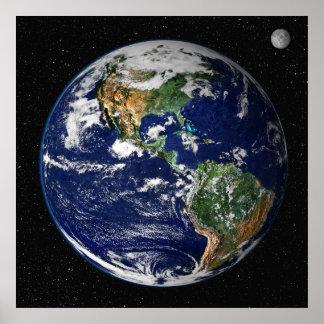 Poster/impresión:   Tierra del espacio - NASA