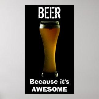 Poster impresionante de la cerveza