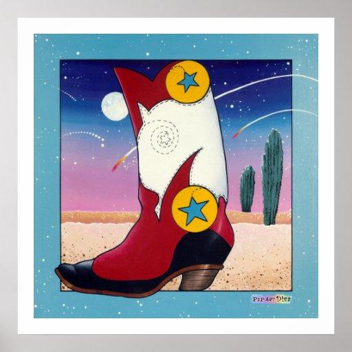 Poster, impresiones - bota de vaquero, vestida tod