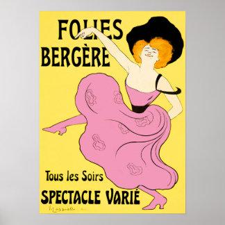 Poster/impresiones: Folies Bergère - Leonetto Capp