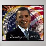 Poster inaugural de presidente Barack Obama