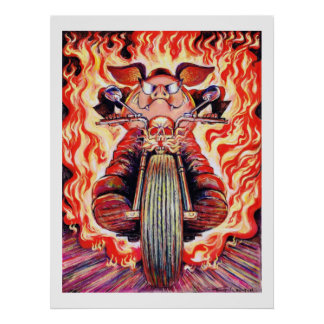 Poster incendiado de los grandes verracos