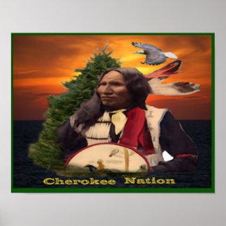 Poster indio cherokee