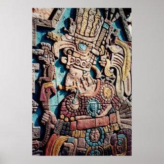 Poster indio del arte de la pirámide del alto sace