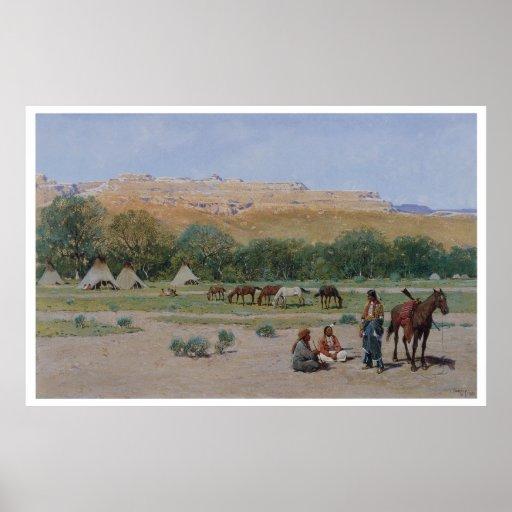 Poster indio del oeste viejo de la impresión del
