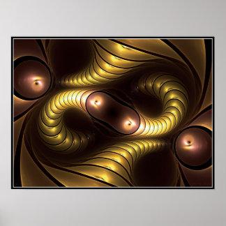 Poster infinito de Giger (amarillo)