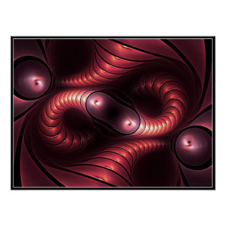 Poster infinito de Giger (rojo)