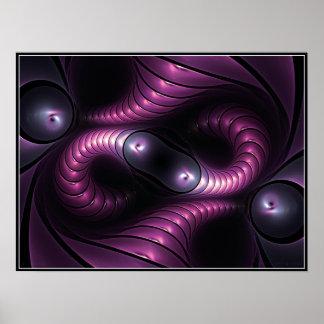 Poster infinito de Giger (violeta)