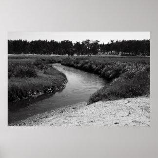Poster infinito del río impresión