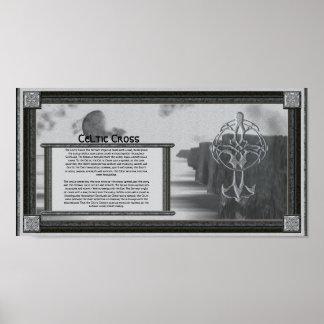 Poster informativo de la cruz céltica