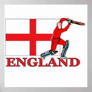 Poster inglés del jugador del grillo