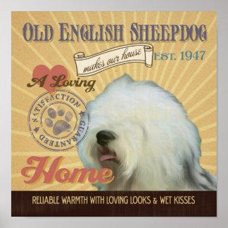 Poster inglés viejo del arte del perro del perro p