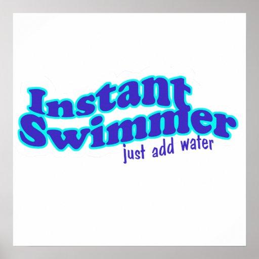 Poster inmediato del nadador