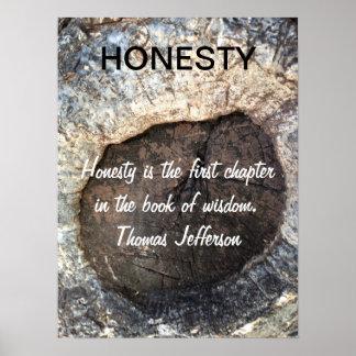 Poster inspirado de Jefferson de la cita de la HON Póster