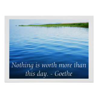 Poster inspirado de la cita de Goethe