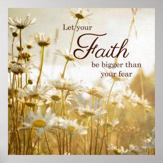 Poster inspirado de la cita de la fe - fotografía