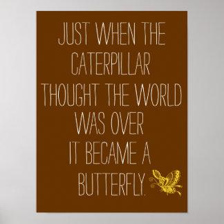 Poster inspirado de la cita de la mariposa