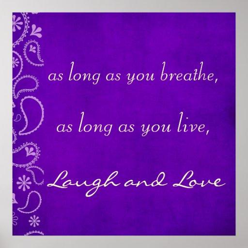 Poster inspirado de la cita de la vida