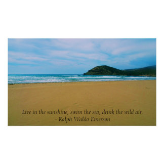 POSTER inspirado de la cita de Ralph Waldo Emerson
