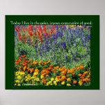 Poster inspirado de la cita del jardín de flores