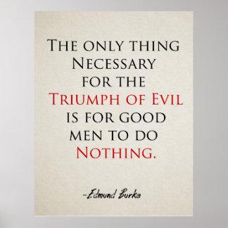 Poster inspirado de la cita si los buenos hombres
