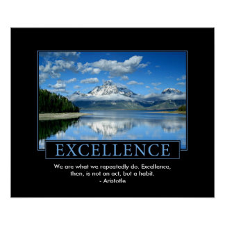 Poster inspirado de la excelencia