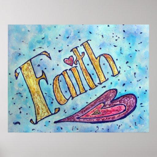 """Poster inspirado de la """"fe"""" de la palabra"""