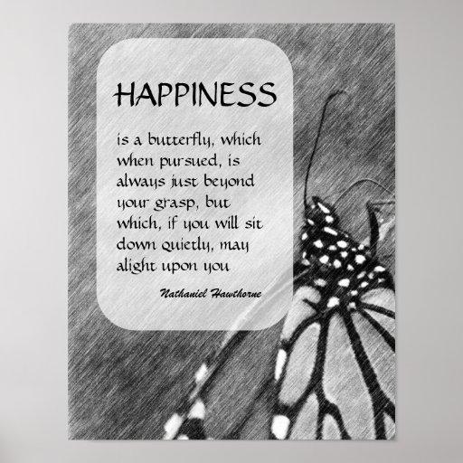 Poster inspirado de la felicidad de la mariposa