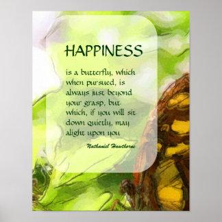 Poster inspirado de la felicidad de la mariposa 2