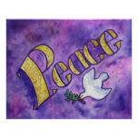 "Poster inspirado de la ""paz"" de la palabra"