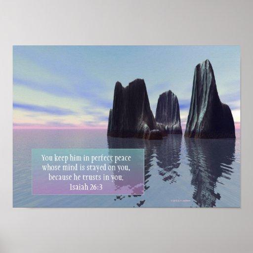 """Poster inspirado de la """"paz perfecta"""""""