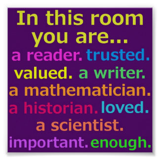 Poster inspirado de la sala de clase