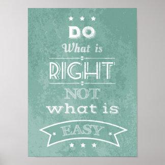 Poster inspirado de la tipografía de la cita