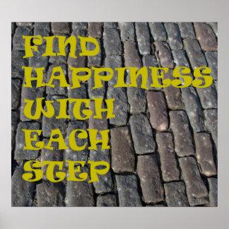 Poster inspirado de la trayectoria de la felicidad