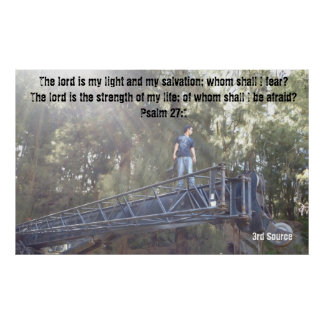 Poster inspirado del 27:1 del salmo de Saiga 12 Póster