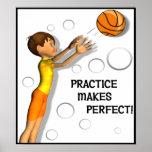 Poster inspirado del baloncesto de los niños