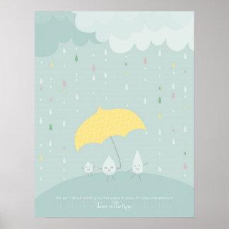 Poster inspirado del día lluvioso