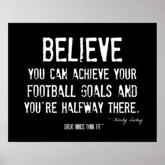 Poster inspirado del fútbol