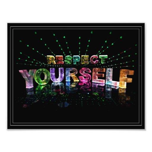Poster inspirado del respecto usted mismo fotografías
