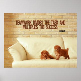 Poster inspirado del trabajo en equipo