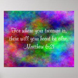Poster inspirado del verso de la biblia