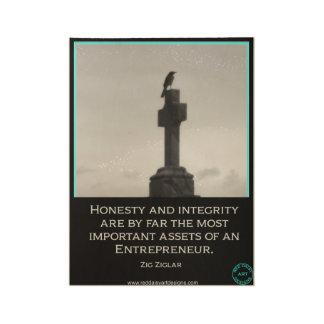 Poster inspirado para el empresario póster de madera