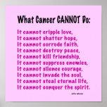 Poster inspirado para la conciencia del cáncer