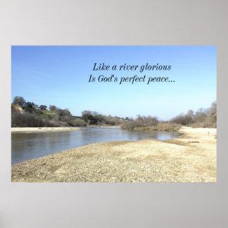 Poster inspirado, río de las salinas, la paz de