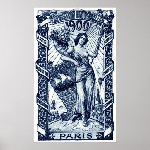 Poster internacional 1900 de la expo de París