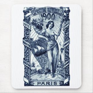 Poster internacional 1900 de la expo de París Mouse Pads