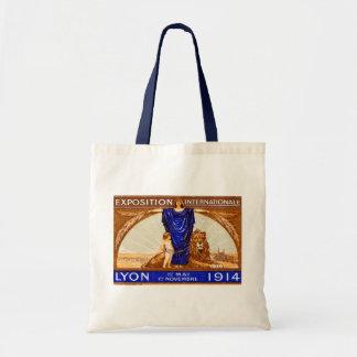 Poster internacional 1914 de la expo de Lyon Bolsas De Mano