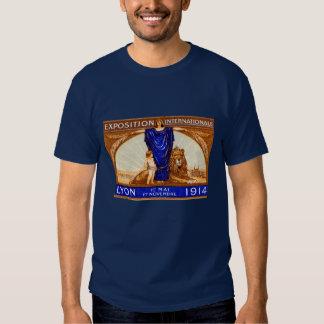 Poster internacional 1914 de la expo de Lyon Camisas