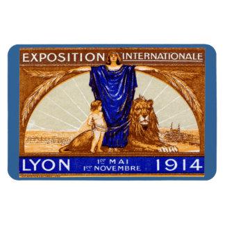 Poster internacional 1914 de la expo de Lyon Iman Rectangular