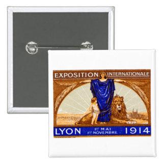 Poster internacional 1914 de la expo de Lyon Pins